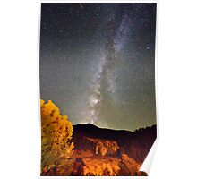 Autumn Milky Way Night Sky  Poster