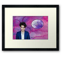 Darren Criss watercolor Framed Print