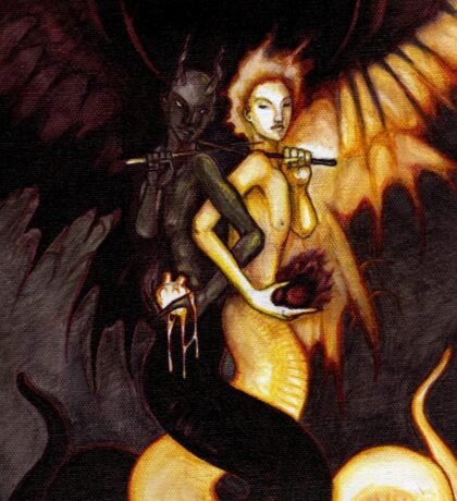 Satan & Lucifer Sticker