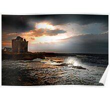 Dusk and Breeze at Portencross Poster