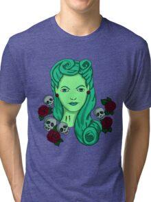 Tattoo Pin-Up Zombie Tri-blend T-Shirt