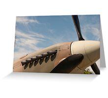 Spitfire nose under a blue sky Greeting Card