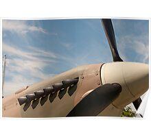 Spitfire nose under a blue sky Poster