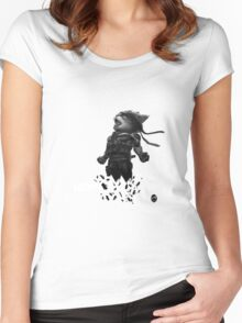 Meowtal Fur Solid 4 Women's Fitted Scoop T-Shirt
