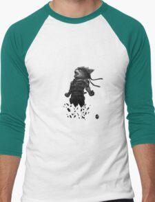 Meowtal Fur Solid 4 Men's Baseball ¾ T-Shirt