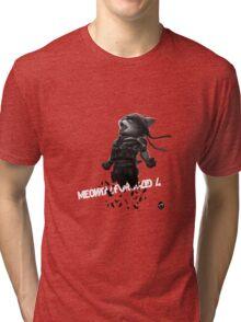 Meowtal Fur Solid 4 Tri-blend T-Shirt