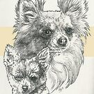 Chihuahua Father & Son (Long-haired) by BarbBarcikKeith