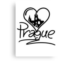 Prague Heart Canvas Print