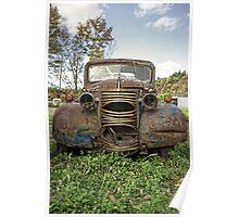 Old Junker Car Poster