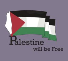 Palestine will be free with flag by darweeshq