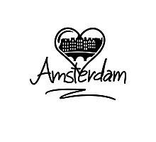 Amsterdam Heart Photographic Print