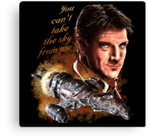 Firefly - You Can't Take The Sky From Me. Canvas Print