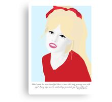 Brigitte Bardot - What Could Be More Beautiful Canvas Print