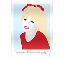 Brigitte Bardot - What Could Be More Beautiful Poster