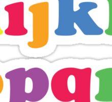 Kids Color Alphabet Sticker