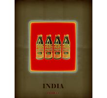 India Product (Red) Photographic Print