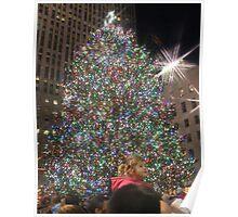 Rockefeller Christmas Tree Star Effect Poster