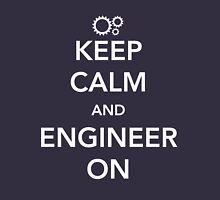 Keep calm and engineer on Unisex T-Shirt