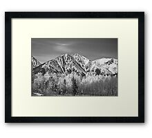 Rocky Mountain Autumn High In Black and White Framed Print