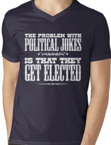 Political Jokes Mens V-Neck T-Shirt