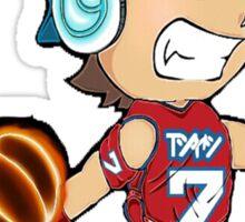 Basketball Power Shot, Sports, ball, NBA, jam, dunk, slam, hoop Sticker