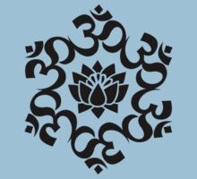 OM LOTUS - Buddhism - Symbol of spiritual strength  Kids Clothes