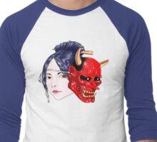 geisha demon Men's Baseball ¾ T-Shirt