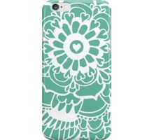 Teal Lacework Doodle iPhone Case/Skin