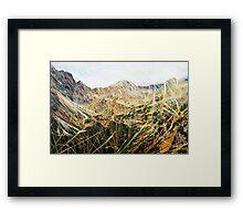High Tatras in Fall VIII. Framed Print
