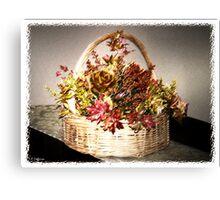 Autumn Basket Canvas Print