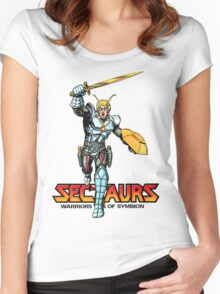 Sectuars Warriors of Symbion - Logo Color Women's Fitted Scoop T-Shirt