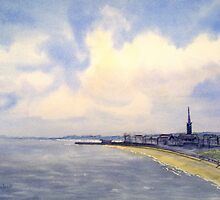 Cloudy Day over Bridlington by Glenn Marshall