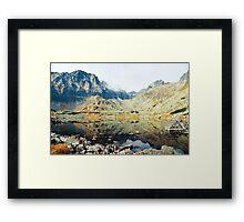 High Tatras in Fall XIV. Framed Print
