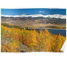 Twin Lakes Colorado Autumn Landscape Poster
