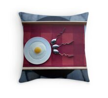 Mommy, How is Breakfast Made? Throw Pillow