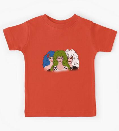 Jem and the Holograms - The Misfits - Group Color Kids Tee
