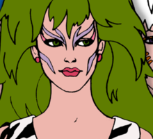 Jem and the Holograms - The Misfits - Group Color Sticker