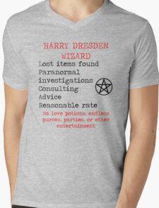 Harry Dresden Business Card Mens V-Neck T-Shirt