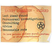 Harry Dresden Business Card Poster