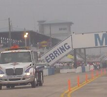 Foggy View of Sebring Pit Out from Turn 1 by BajunaLotsOTuna