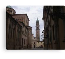 per te cara Anna  che un giorno hai passeggiato in questi luoghi...Italia  - Strada al Duomo - Parma - italyVETRINA rb explore 1 novembre 2013               -.. Canvas Print