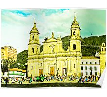 Cathedral of Bogota. Poster