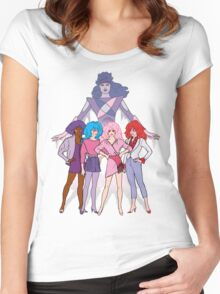Jem and the Holograms - Group with Synergy - Color Women's Fitted Scoop T-Shirt