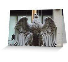Original Pennsylvania Station Eagle Sculpture, Penn Station, New York City Greeting Card