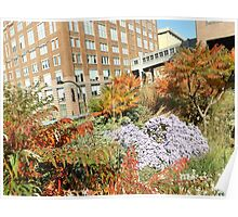 Autumn Colors on the High Line, New York City's Elevated Garden and Park Poster