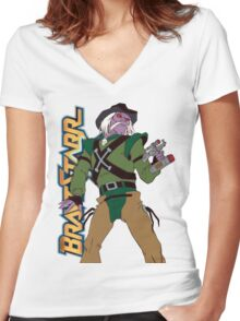 BraveStarr - Tex Hex - Color Women's Fitted V-Neck T-Shirt