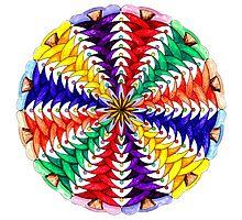 Oh Tannenbaum Mandala Print Photographic Print