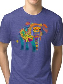 Whimsical Elephant Tri-blend T-Shirt