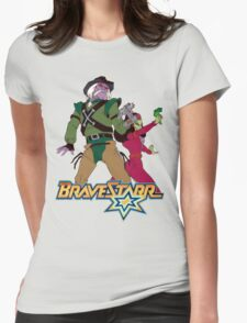 BraveStarr - Tex Hex and Vipra - Color Womens Fitted T-Shirt