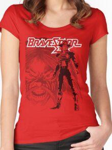 BraveStarr - Tex Hex and Marshall BraveStarr - Black Line Art Women's Fitted Scoop T-Shirt